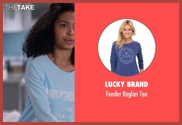 Lucky Brand blue tee from Black-ish seen with Zoey Johnson (Yara Shahidi)