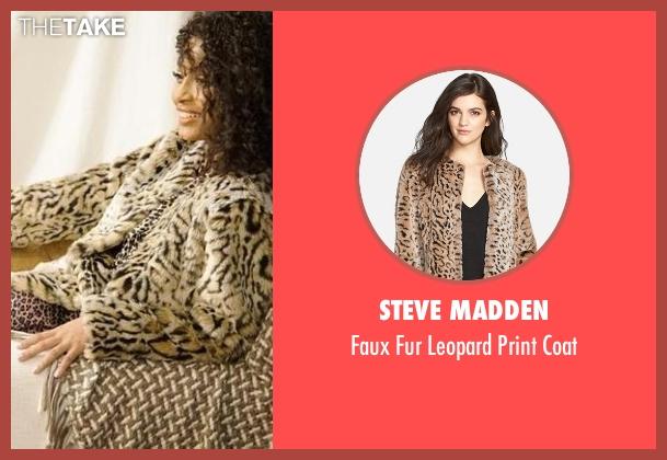 Steve Madden coat from Black-ish seen with Zoey Johnson (Yara Shahidi)