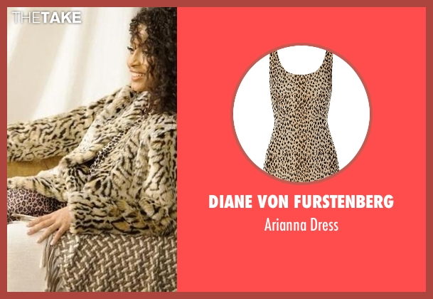 Diane Von Furstenberg dress from Black-ish seen with Zoey Johnson (Yara Shahidi)