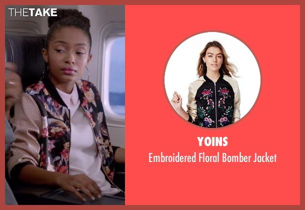 Yoins jacket from Black-ish seen with Zoey Johnson (Yara Shahidi)