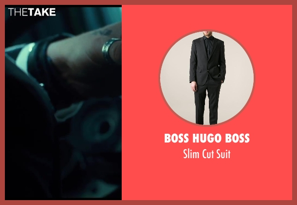 Boss Hugo Boss black suit from A Good Day to Die Hard seen with Zolee Ganxsta (MRAP Driver)