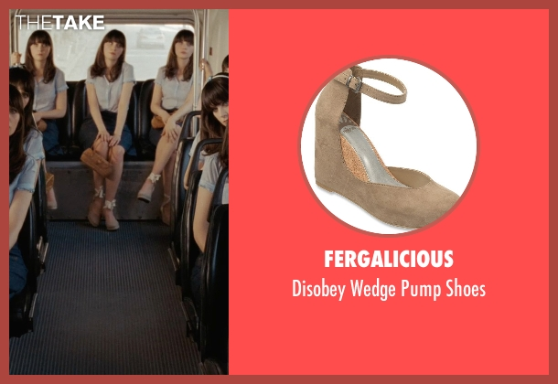 Fergalicious beige shoes from (500) Days of Summer seen with Zooey Deschanel (Summer)
