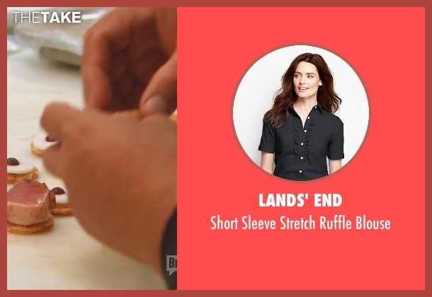 Lands' End black blouse from (500) Days of Summer seen with Zooey Deschanel (Summer)