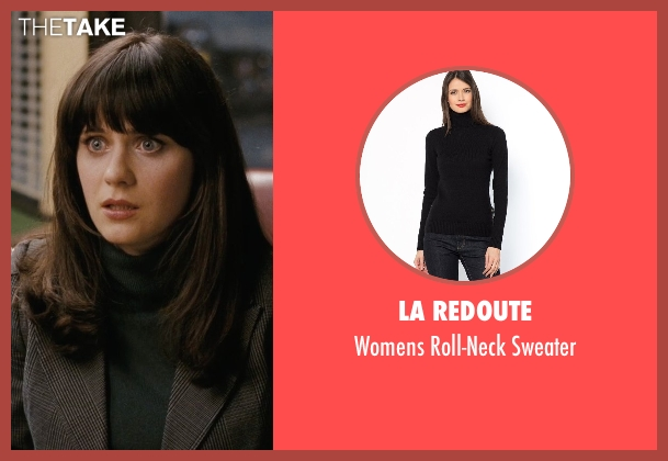La Redoute black sweater from (500) Days of Summer seen with Zooey Deschanel (Summer)