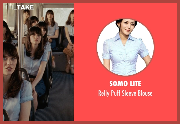 Somo Lite blue blouse from (500) Days of Summer seen with Zooey Deschanel (Summer)