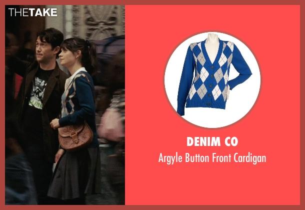 Denim Co blue cardigan from (500) Days of Summer seen with Zooey Deschanel (Summer)
