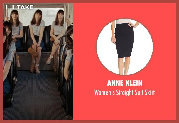 Anne Klein blue skirt from (500) Days of Summer seen with Zooey Deschanel (Summer)