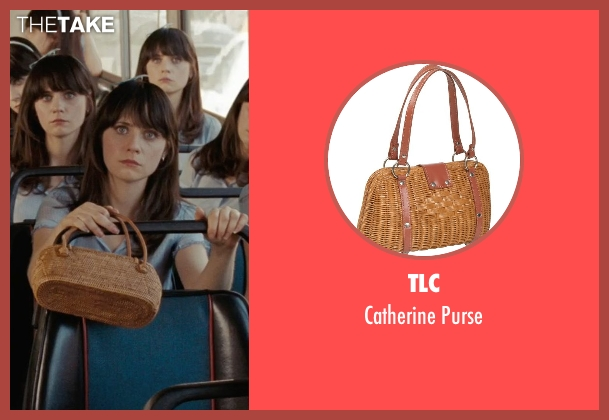 TLC brown purse from (500) Days of Summer seen with Zooey Deschanel (Summer)