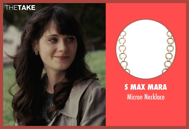 S Max Mara gold necklace from (500) Days of Summer seen with Zooey Deschanel (Summer)