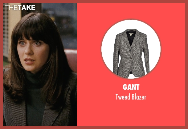 Gant gray blazer from (500) Days of Summer seen with Zooey Deschanel (Summer)
