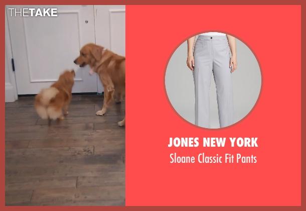Jones New York gray pants from (500) Days of Summer seen with Zooey Deschanel (Summer)