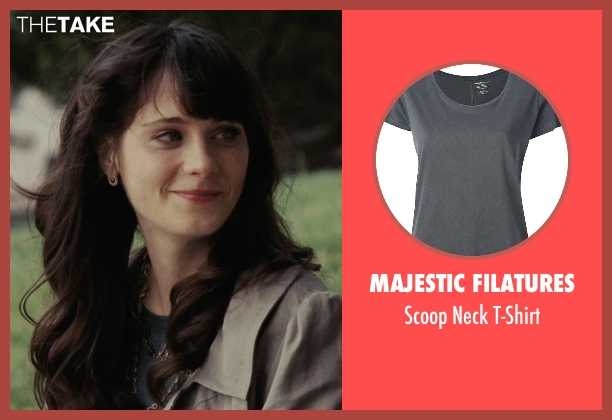 Majestic Filatures gray t-shirt from (500) Days of Summer seen with Zooey Deschanel (Summer)
