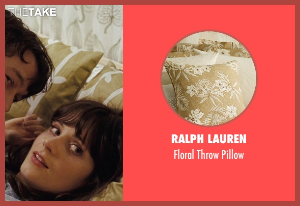 Ralph Lauren pillow from (500) Days of Summer seen with Zooey Deschanel (Summer)