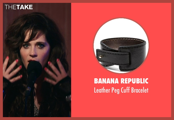 Banana Republic black bracelet from Rock The Kasbah seen with Zooey Deschanel (Unknown Character)
