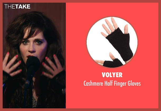 Volyer black gloves from Rock The Kasbah seen with Zooey Deschanel (Unknown Character)