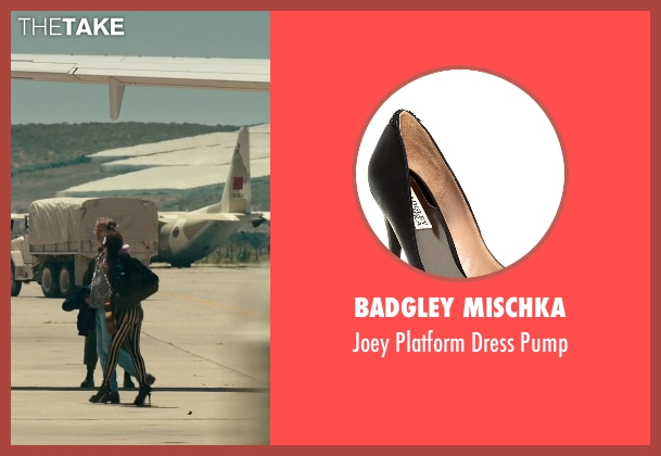 Badgley Mischka black pump from Rock The Kasbah seen with Zooey Deschanel (Unknown Character)