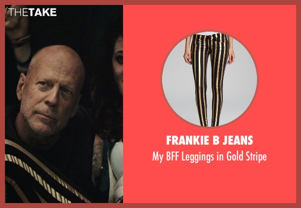 Frankie B Jeans black stripe from Rock The Kasbah seen with Zooey Deschanel (Unknown Character)