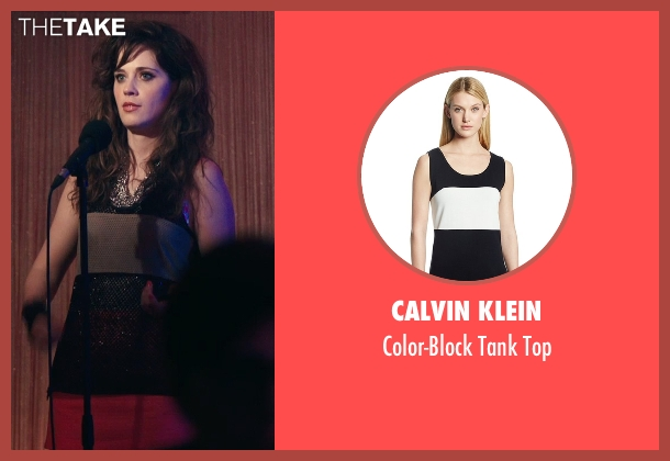 Calvin Klein black top from Rock The Kasbah seen with Zooey Deschanel (Unknown Character)