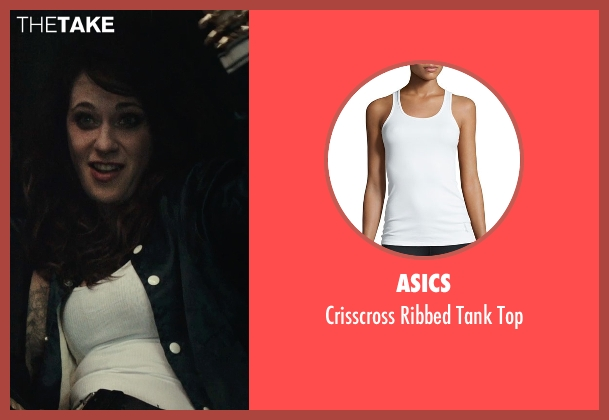 Asics white top from Rock The Kasbah seen with Zooey Deschanel (Unknown Character)
