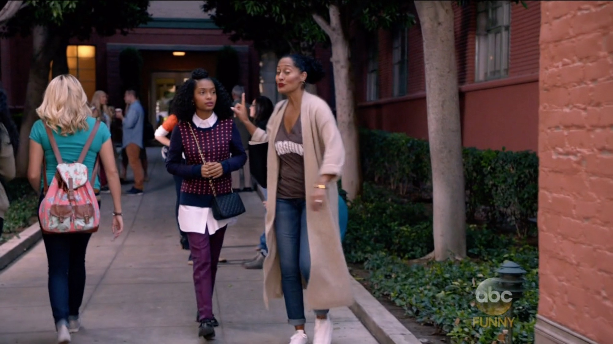 Zoey Johnson's Purple Pt0w Casual Pants from Black-ish - Season 2 ...
