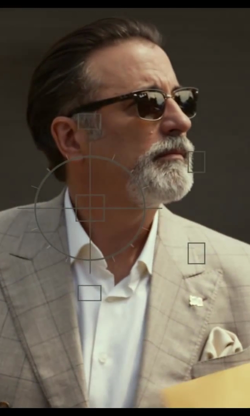 Andy Garcia with Band Of Outsiders No Bunk No Junk Pocket Square in Let's Be Cops