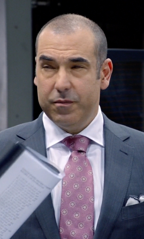 Rick Hoffman with Ermenegildo Zegna Cotton Voile Pocket Square in Suits