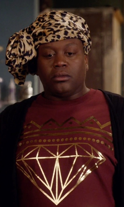 Tituss Burgess with Diamond Supply Co OG Sign Red T-Shirt in Unbreakable Kimmy Schmidt