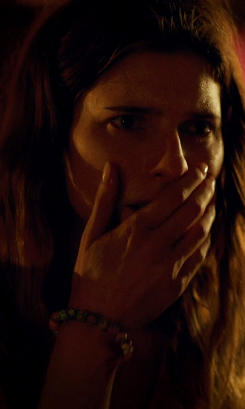 Lake Bell with M.Cohen Handmade Designs Multi-Colored African Glass Trading Bead Bracelet in No Escape