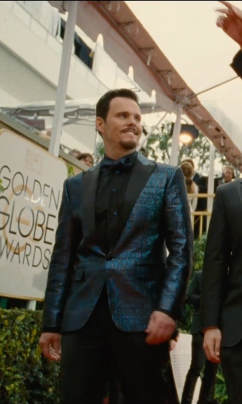 Kevin Dillon with Brioni Blue Slim-Fit Silk-Jacquard Tuxedo Jacket in Entourage