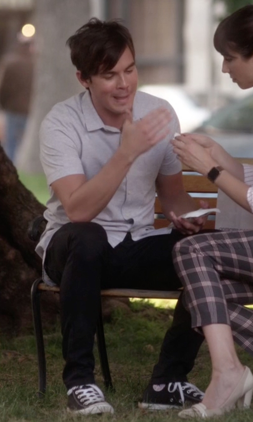 Tyler Blackburn with Converse Chuck Taylor All Star High Top Sneakers in Pretty Little Liars