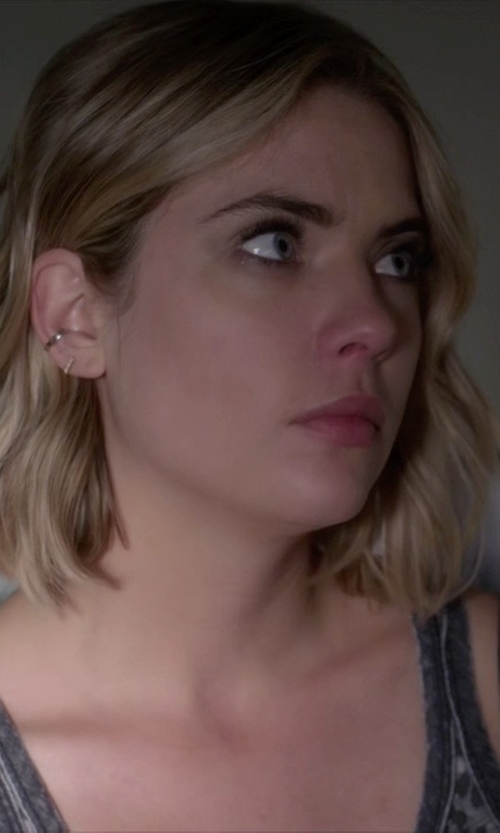 Ashley Benson with Sugar Bean Jewelry Mini Bar Stud Earrings in Pretty Little Liars