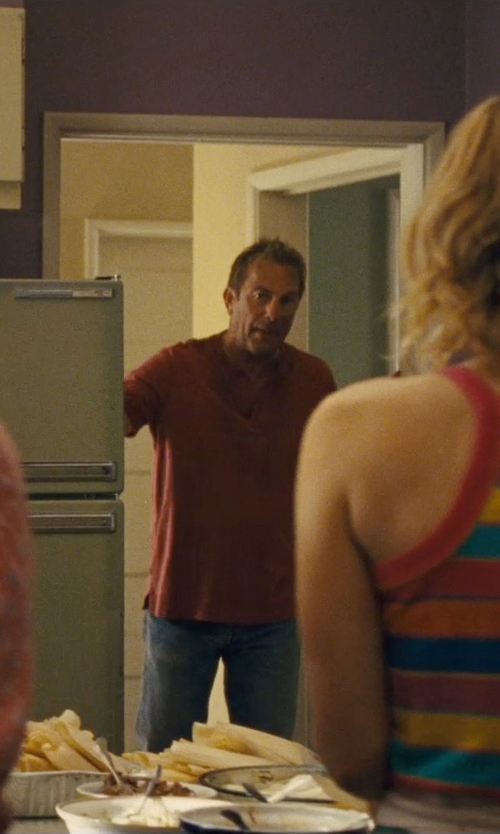 Kevin Costner with Jean.Machine Denim Pants in McFarland, USA