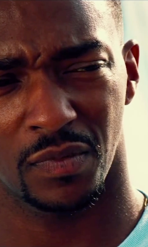 Anthony Mackie with American Essentials Men's Ultra Soft Crew Neck T-Shirt in Pain & Gain