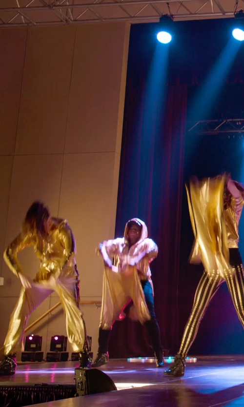 Ester Dean with Eastbay Tearaway Pants in Pitch Perfect 2