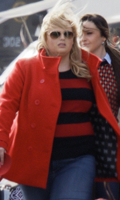 Rebel Wilson with Eloquii Striped Crew Neck Sweater in Pitch Perfect 3