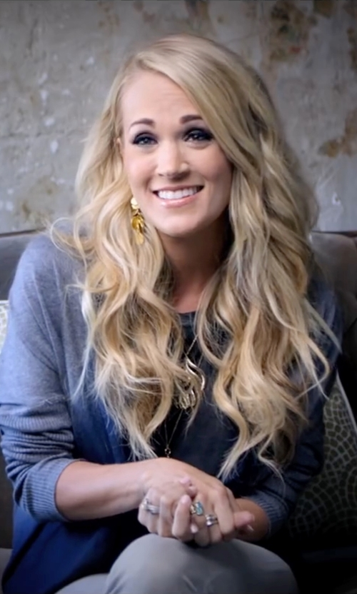Carrie Underwood with Kokun Dip Dye Assymetrical Scoop Sweater in Popstar: Never Stop Never Stopping