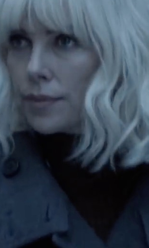 Charlize Theron with Rachel Comey Tallus Coat in Atomic Blonde