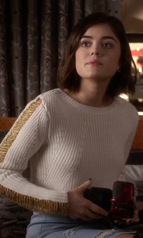 Lucy Hale with Guess Isabeli Sweater in Pretty Little Liars