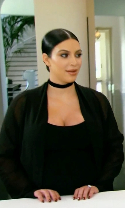Kim Kardashian West with Eileen Fisher Long Cocoon Cardigan in Keeping Up With The Kardashians