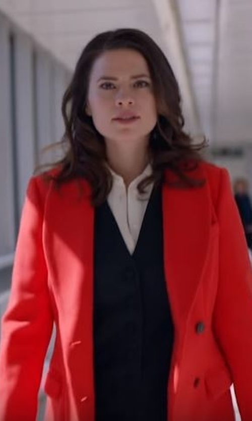 Hayley Atwell with Dolce & Gabbana Classic Waistcoat in Conviction