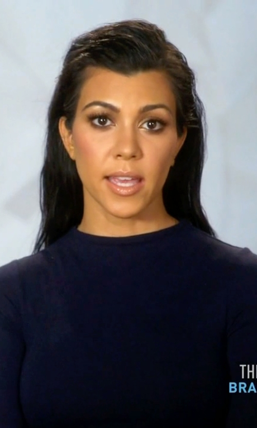 Kourtney Kardashian with Naked Wardrobe NW Bodysuit in Keeping Up With The Kardashians