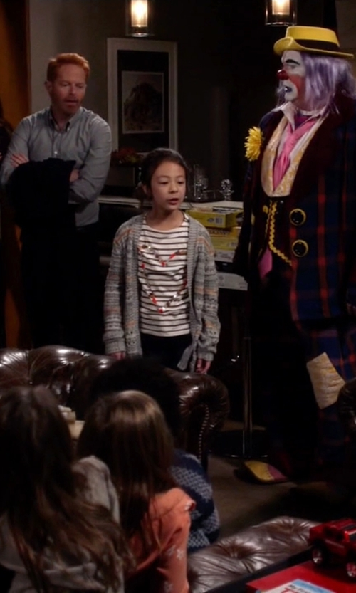Aubrey Anderson-Emmons with Hartstrings Fair Isle Cotton Cardigan Sweater in Modern Family