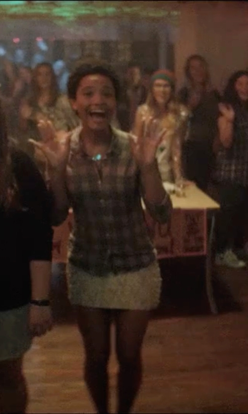 Kiersey Clemons with Raga Beaded Mini Skirt  in Neighbors 2: Sorority Rising