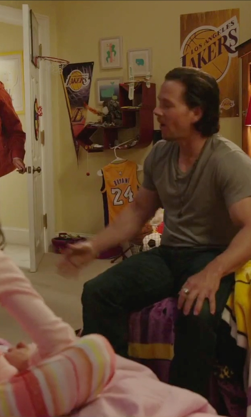 Unknown Actor with WinCraft NBA Los Angeles Lakers Premium Quality Pennant in Daddy's Home