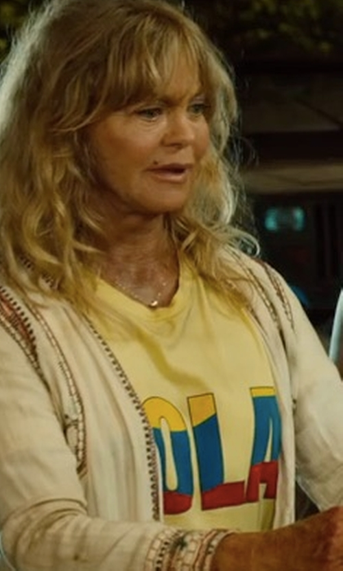 Goldie Hawn with Lauren Moshi Edda Woodstock Tee Shirt in Snatched