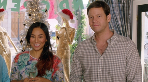 Ike Barinholtz with Nordstrom Men's Shop Gingham Dress Shirt in Sisters