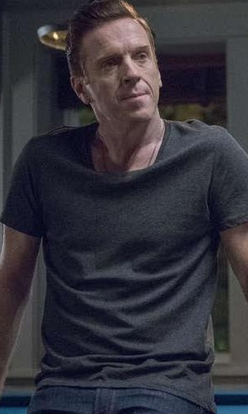 Damian Lewis with ATM Classic Short-Sleeve Crewneck T-Shirt in Billions
