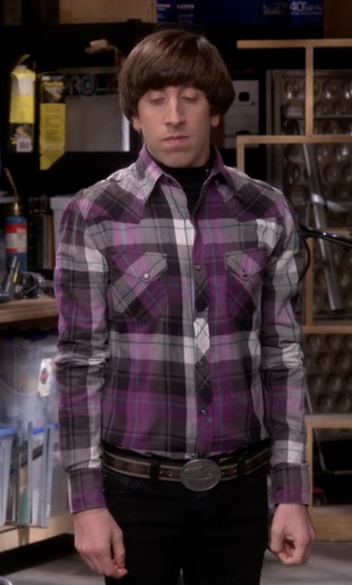 Simon Helberg with Andwest Western Tooled Bucn' Bronc Rider Belt in The Big Bang Theory