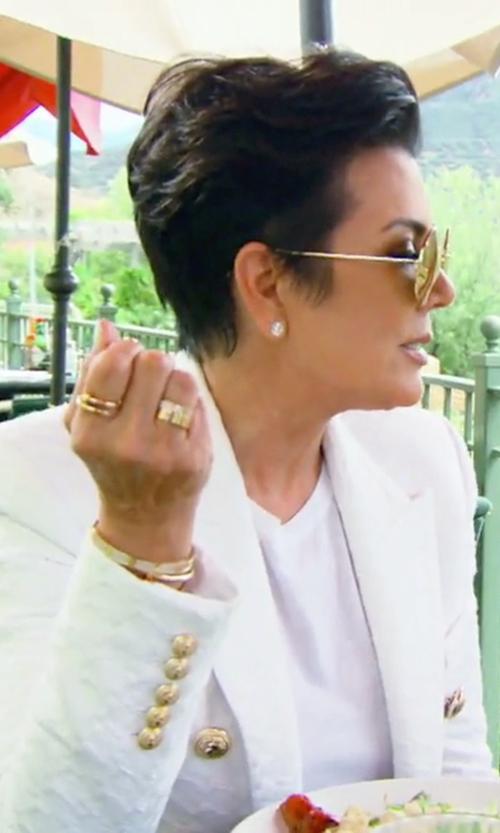 Kris Jenner with Balmain Cutaway Blazer in Keeping Up With The Kardashians