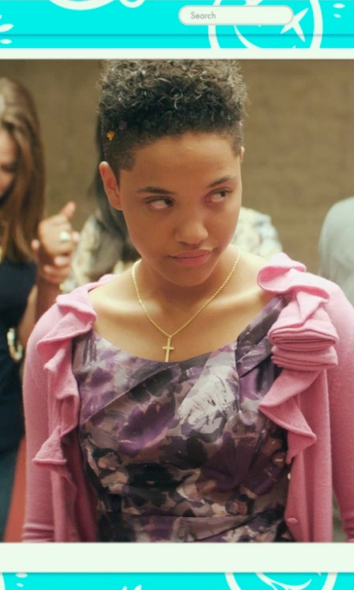 Kiersey Clemons with Lord & Taylor Polished Cross Pendant Necklace in Dope